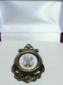 Royal Poland Polish Fleet Navy Empire Fleet Unit Ship Anchor Badge Pin Brooch SS