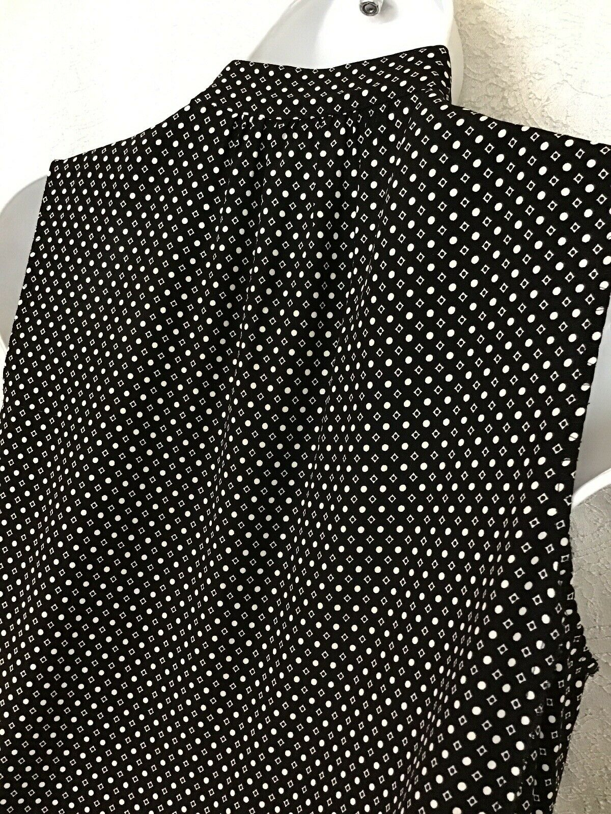 Rag And Bone Dress Black & White Sleeveless Silk … - image 5