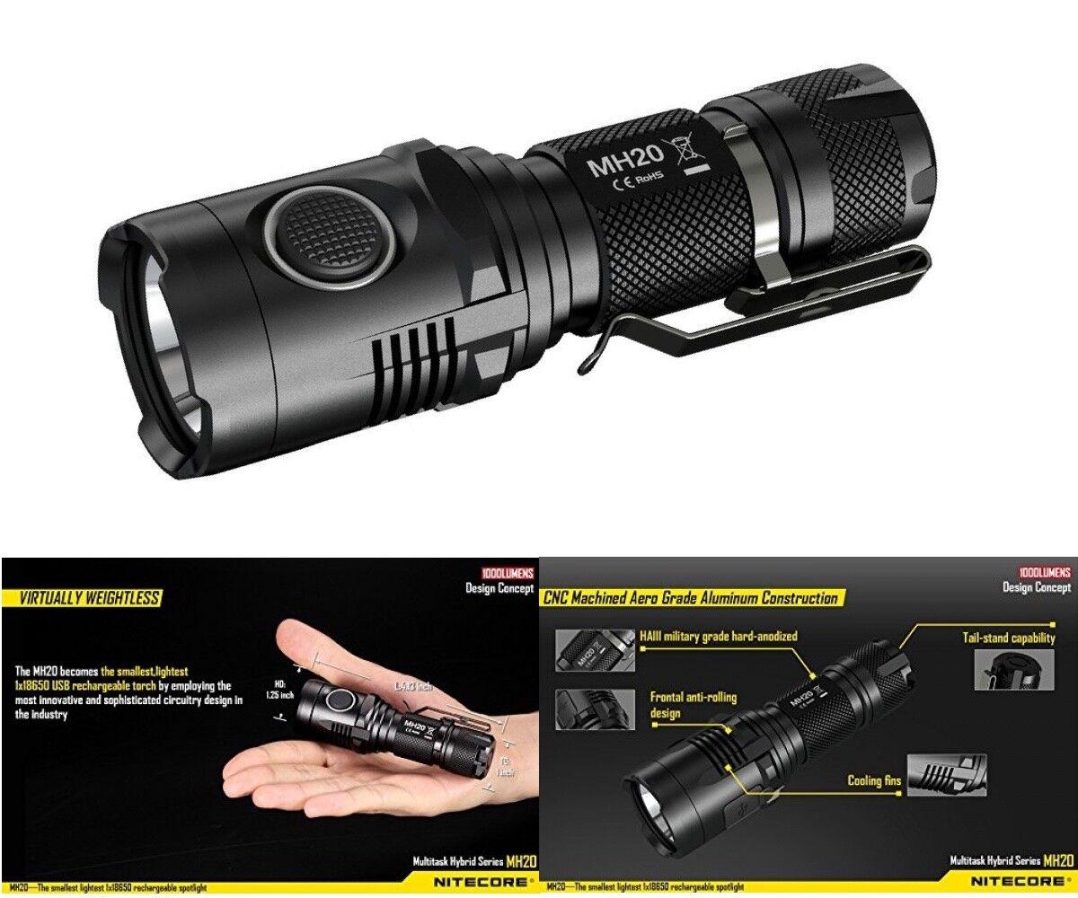 NiteCore LED Taschenlampe MH20 Cree-LED XM-L2U2 -max. 1000 Lumen-wasserdicht NEW NEW Lumen-wasserdicht 83d438