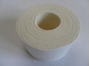 Reliance-Sports-Bianco-vincolante-NASTRO-Strapping-Bordo-Seghettato-3-8-cm-x-13-7-M