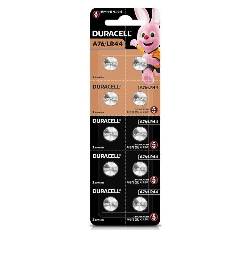 2x Pack of 10 Duracell 76A LR44 Alkaline Button Batteries lr44, A76, EPX76, PX7
