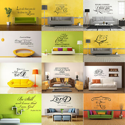 bible verse wall decals christ quote vinyl wall art stickers
