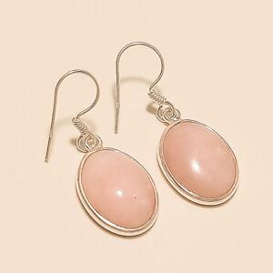 Natural-Australian-Pink-Opal-Earrings-925-Sterling-Silver-Women-Fine-Jewelry-New