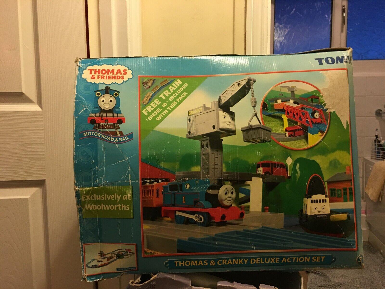 Thomas & Cranky Deluxe Action Set Plus Train Set