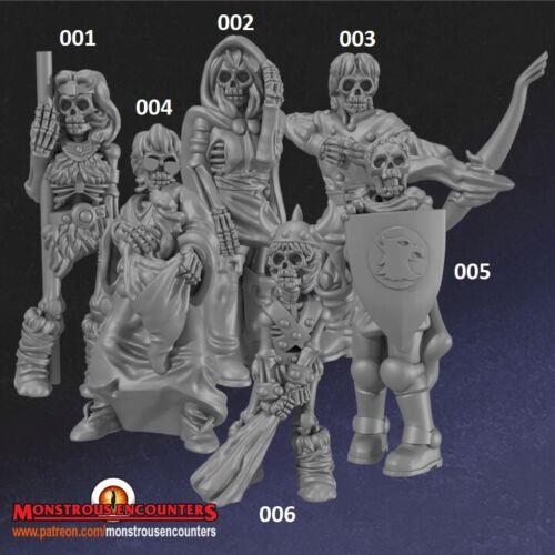 Non morti EROI compatibile con Hero Quest Mordheim AOS D/&D /& RPG WARHAMMER