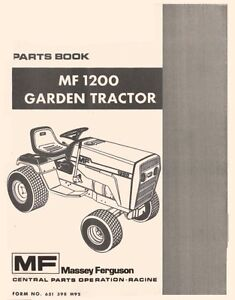 Massey-Ferguson-MF-1200-MF1200-Garden-Tractor-Parts-Book-Manual