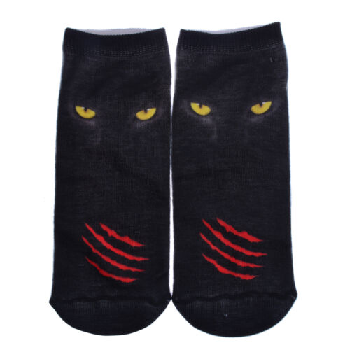 Fashion 3D Printed Animal Food Girls/&Boys Socks Multi Design Low Cut Ankle Socks