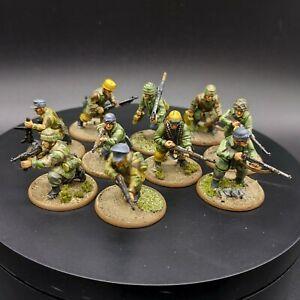 Ben-dipinti-28mm-BOLT-ACTION-Fallschirmjager-Squad-2-Ww2-WARLORD-GAMES