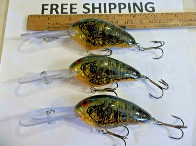 Lot of 3 Norman Fishing Lures DD22 11-17 Ft New Crankbaits GREAT COLOR TACKLE