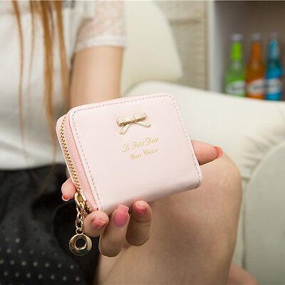Hot mini faux leather women lady purse wallet card holder handbags Bags black