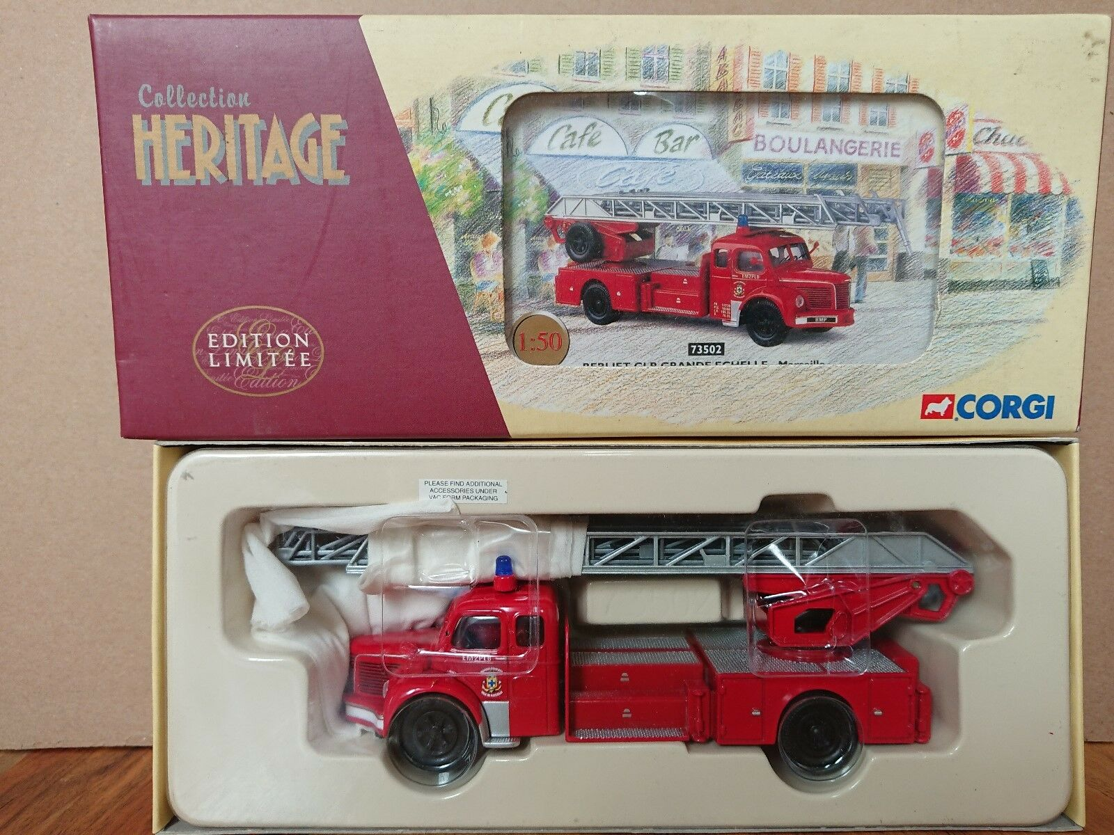 Corgi 73502 Berliet GLR Grande Echelle Marseille Ltd Edition No. 1185 of 2352