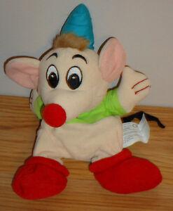 "Disney Cinderella Mouse GUS 7"" Beanbag Plush w/Tag"