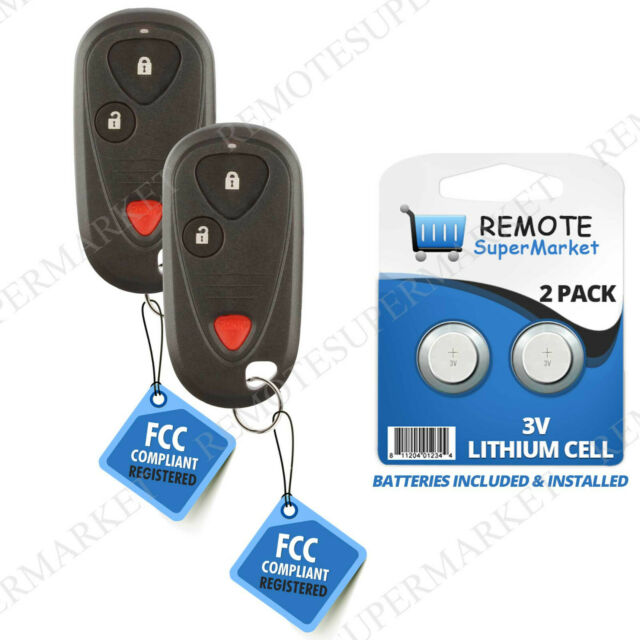 2 For Replacement For Acura 2001-2006 MDX 2006 RSX Remote