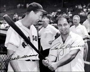 Ted-Williams-Rocky-Marciano-Autographed-Repro-Photo-8X10-Red-Sox-1955-Champ