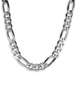 Men-039-s-Sterling-Silver-925-Bracelets-Chains-Figaro-Link-7-5-MM-Chains-From-Canada