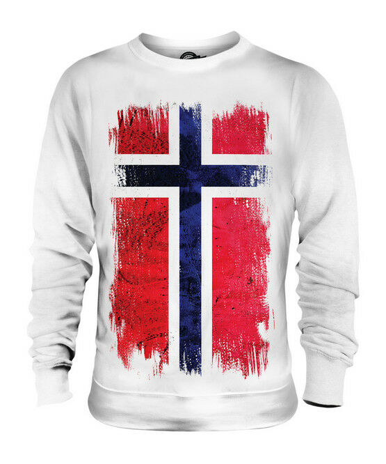 NORWAY GRUNGE FLAG UNISEX SWEATER TOP NOREG NORWEGIAN NORGE SHIRT FOOTBALL