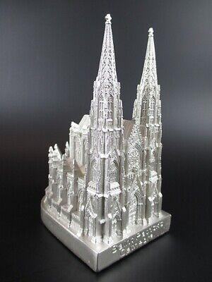 Ausdauernd New York St.patrick Cathedral Kirche 13 Cm Poly Modell Silberfarben Usa Souvenir