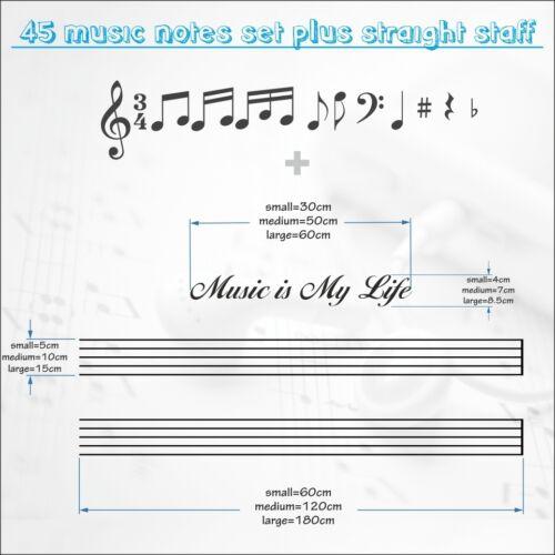 Notas Musicales 45 Pegatina Amor Decoración de Pared DIY Habitación Coche Ducha