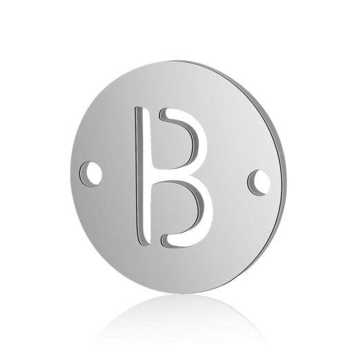 26pcs Stainless Steel Alphabet Letter Necklace Pendant Charms DIY Accessories