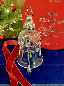 Waterford Crystal 10 Lords-a-Leaping Bell Ornament 12 Days ...
