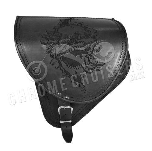 Harley Davidson Softail Leder Satteltasche Schwinge Einseitig Fahrradtasche