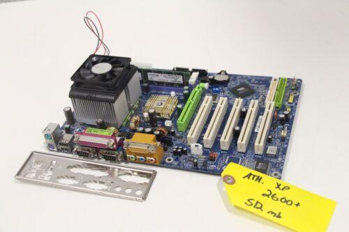 512mb Motherboard CPU RAM Combo I//O Shield AMD Gigabyte GA-7VA Athlon XP 2600