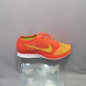 online store 91dbe 2193a Image is loading Nike-Flyknit-Racer-526628-601-BRIGHT-CRIMSON-BLACK-
