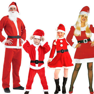 US Child Santa Claus Costume Boys Girls Christmas Fancy Budget Kids Outfits Suit