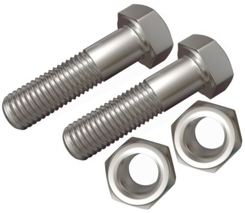 2 PACK M12 x 65 HIGH TENSILE NUTS AND BOLTS ZINC PLATED BZP