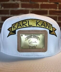 b8360e11d9174 Image is loading Karl-Kani-39Thirty-White-Embroidered-Logo-amp-Leather-
