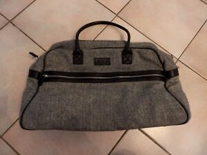e41a6f48c0e GANT - BAG WEEKEND - WOOL and leather - gray and black - AUTHENTIC ...