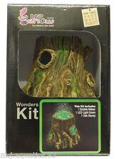 Bajo El Agua Acuario Roble Stump + Led Verde & burbuja de aire Maker Kit Completo