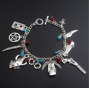 Supernatural-SPN-Charm-Bracelet-Metal-Bracelets-Women-Fashion-Jewelry