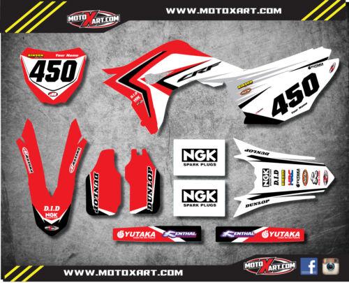 Honda CRF 450 2013-2016 Full Custom Graphic Kit REBOUND Style sticker kit