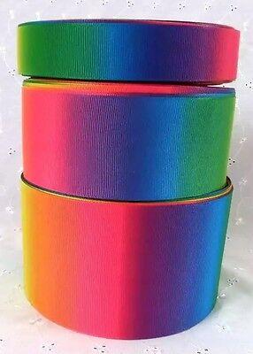 1m RAINBOW COLOURS ANIMAL LEOPARD PRINT GROSGRAIN RIBBON 75mm HAIR BOW CAKE GIFT