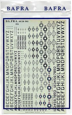 Ba.fra. Bafra Decals Ba D02 - 1/48-1/72 Usa - Nuovo High Quality Goods