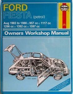 Haynes-Ford-Fiesta-Agosto-1983-a-1988-Gasolina-Propietario-Manual-de