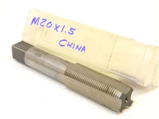 New Meda Metric Hand Tap M20 x 1.50 Plug HSS CHINA 2001501 high speed steel