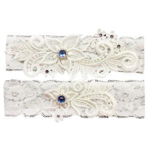 Wedding-Bride-Garter-Belt-Hand-Made-Lace-Leg-Garter-Belt-2-Piece-Set-For-Female