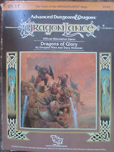 Tsr Ad & d Dragonlance D112 Dragons Of Glory 9144 Cut Counters Adv Donjon Dragon