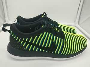Nike 844929003 Two Uk Photo 5 Black Womens Flyknit Volt Blu Roshe CwqrCgH7