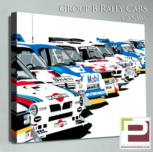 Group B Rally Car Canvas Martini Lancia 205 T16 Metro 6r4 Audi Quattro Etc