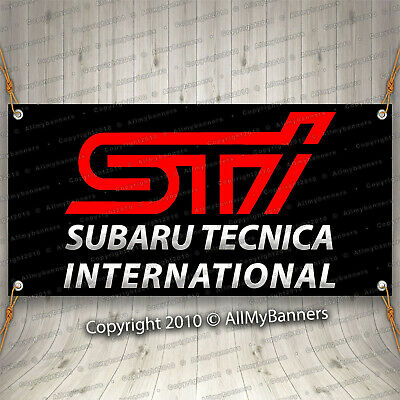 New Advertising Flag for Subaru Tecnica International 3x5ft Wall Decor Black