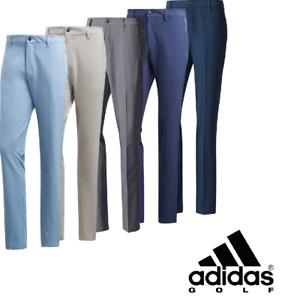 Adidas Golf 2019 Ultimate 3 Stripe Para Hombre Pantalones De Golf Pierna Ahusada Nuevo Ebay
