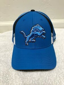 1bc3fe2c Details about Detroit Lions NFL Reebok On Field Fitted Hat Cap Mens Size S/M