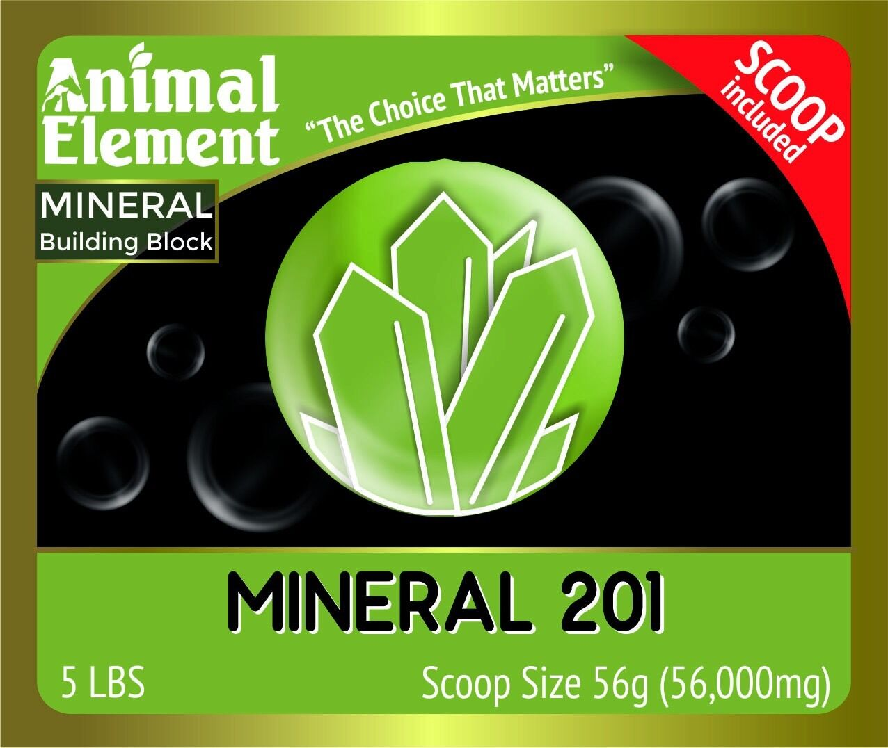 Mineral 201 by Animal Element 20Tub Vitamin, mineral and probiotic in one