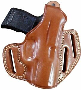 Leather Three Slot Pancake Holster For Springfield Hellcat 9mm 3'' BBL R/H #1524