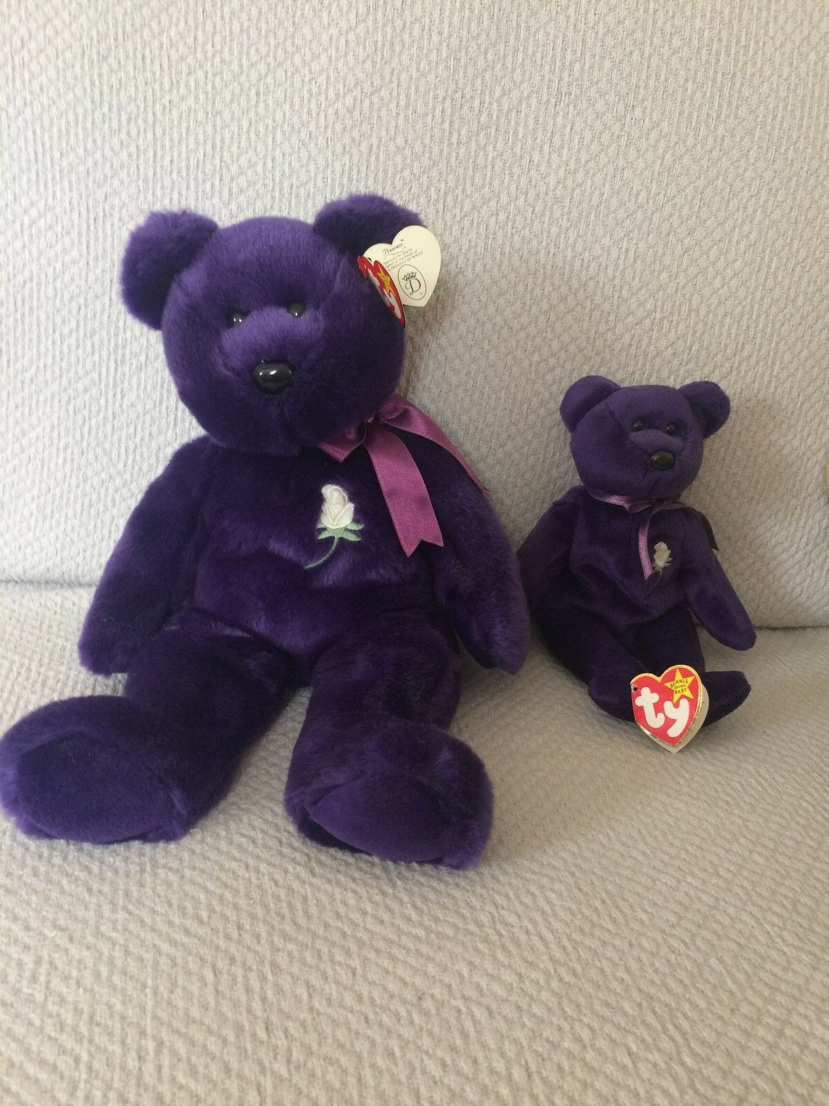 Princess Diana Original TY Beanie Baby and Buddy  New  bought in Europe.