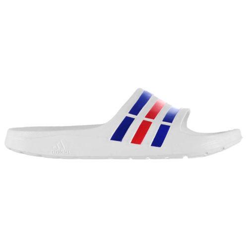 651fb0af3ed7 adidas Adilette Duramo Slide Bath Shoes Flip Flops White U43664 Whites UK  13 for sale online