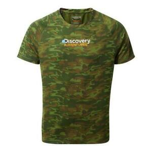 CRAGHOPPERS-Mens-Discovery-Adventures-T-Shirt-Camo-Print-S-M-L-XL-XXL